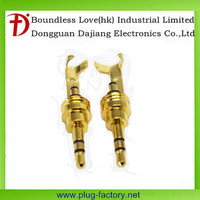 Christmas wholesales 2.5mm stereo plug gold plated