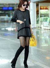 Autumn fashion loose sweater Cultivate one's morality women sweater Round neck long temperament joker show thin sweater