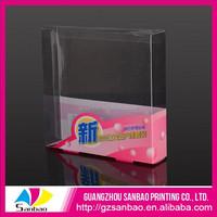 China Factory Supply Custom Beautiful PVC Clear Color Nail Polish Package Box