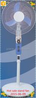 12v dc electric standing pedestal fans with solar emergency light battery