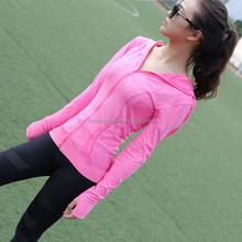 Women Quick Dry Breathable Sports Yoga T Shirts Mujer Fitness Long Sleeve Cardigan Gym Running Feminino T-shirts Tops Camisa