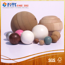Factory supply natural wooden balls with holes for promotion