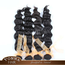 Super quality hotsell chinese virgin weft deep wave human hair