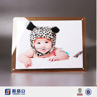 Magnetic acrylic photo block wholesale/family naturalism photo/ happy family frame photo