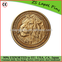 lion challenge coin antique gold coin metal coin