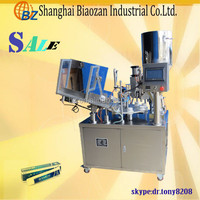 Automatic alignment marking cosmetic cream aluminum tube filling and making machine