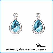 silver 925 earrings gemstone pressed earrings jewelry