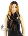 Cx-s-118 nuevo de la moda de punto de visón real bufanda