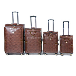 New design PU luggage Travel bag Trolley Luggage
