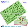 Plum blossom flower silicone molds ,fondant gum paste molds,cake decorating tools