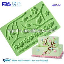 Plum blossom flower silicone molds ,fondant gum paste molds,cake decorating tools