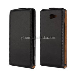 Black Korean Style PU Leather Magnetic Flip Case Skin Cover Pouch for Sony M2 / D2305 / D2306