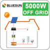 25 years warrranty high quality solar power 5kw 5kva solar panel system