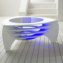 2015 TW Hot sale solid surface led coffee table