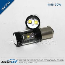 Wholesale Brake auto LED light CE ROSH certification black aluminum S25, 1156, BAU15S ,BA15S 30w car light