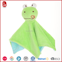 2015 good quality super soft short plush green and blue hand towels