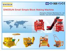 SINOSUN Good Quality Cheap Price Easy Transporation Concrete Light Weight Brick Making Machine