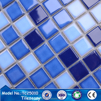 trend 2015 25X25mm square swiming pool ceramics mosaic tiles