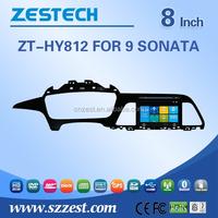 ZESTECH multimidea player car dvd gps navigation For Hyundai 9 SONATA support 3G Phone GPS DVD BT DVR function