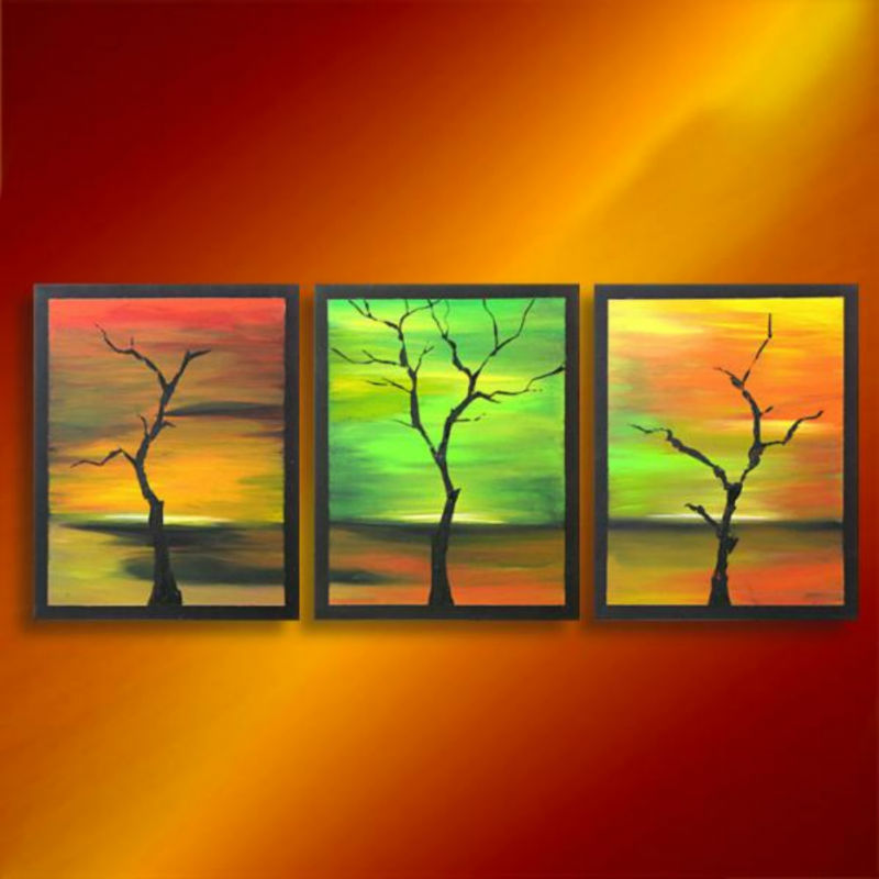 Home Decor Wall Abstract Tree Acrylic Painting