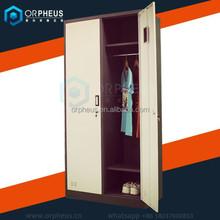 Factory price metal wardrobe double door almirah steel sheets used metal wardrobe design