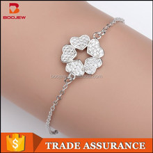 fashion micro pave setting 925 sterling silver jewelry bracelet
