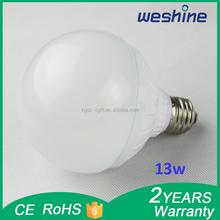 2015ultra bright 13w E27 high lumen LED bulb lamp wholesale