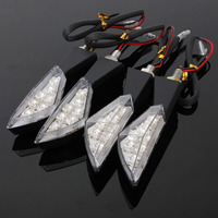 4x 7 LED UNIVERSAL MOTORCYCLE MOTORBIKE TURN SIGNAL INDICATORS LIGHT LAMP AMBER Heart-shape Style