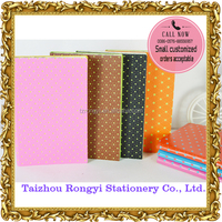 PU+PU cover A5 notebook with colored edge printing