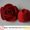 Various elegant design wine red handicraft felt rose flower for promotional wedding gift