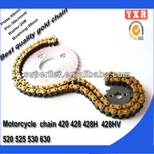 hot sale motorcycle spare part chain and sprocket,chain sprocket motorcycle reverse gear chain drive,transmission kit motorcycle
