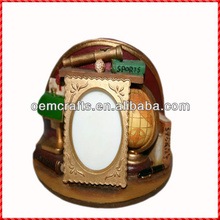 2014 Unique resin custom helmet design latest photo frame