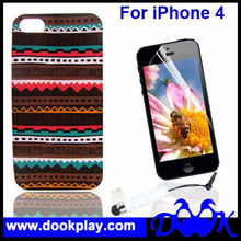 For iPhone4 iPhone 4 Cute Vintage Aztec Tribal Cover Case