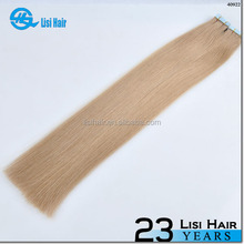 2014hot sale alibaba certified Italian glue 2.0g virgin remy cheap double tape hair weft