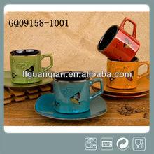 Attractive ceramic tea cup&saucer,coffee cup&saucer,handpaint cup&saucer