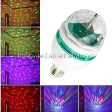 RGB Stage Lighting Effect Full Color 3W LED Rotating Lamp Disco Party holiday Christmas Lighting