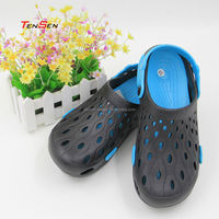 wholesale popular tourism supplies breathing unisex eva injection garden shoes classic casual black clog shoes