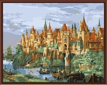 city landscape oil handmaded painting by numbers paint boy brand GX6828