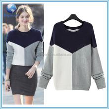 2015 wholesale sweater korean knitwear Simple and easy ladies pullover women wool sweater