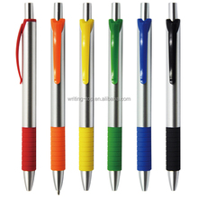 Click Style plastic Ball Pen with Rubber Grip