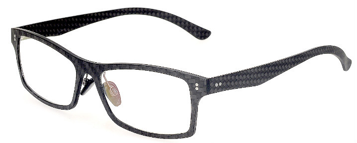 New Style Fashion Black Color Demo Lens Carbon Fiber Eyeglasses Men ...