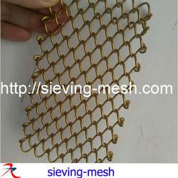 stainless steel curtain mesh / 1-2mm metal chain curtain / 8mm diamond hole curtain