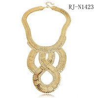 Hot Selling New Design character exaggerated snake chain punk necklace Factory Price High Quality