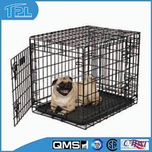 """Chinese High Quality Multicolor Wire Folding Two Doors Double lock 42"""" Dog Cage"""