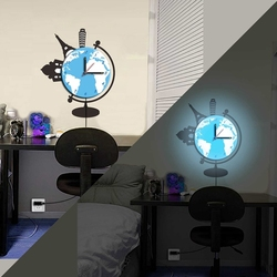 2015 DIY home decorative led wall clock with sticker