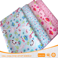 Baby use 100 percent cotton animal pictures printing fabric cheapest custom printed cotton fabric