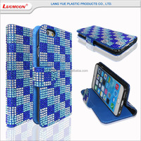 glitter PU leather flip mobile phone case for samsung galaxy a5/e7, bling phone case for lg