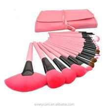 Fashion and professional beveled lip , bevel eye shadow brush , smudge stick 24pcs makeup brushes
