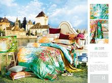 Hot sale bed sheet new design elegant flower printing colorful high quality bed sheet/ bed cover set