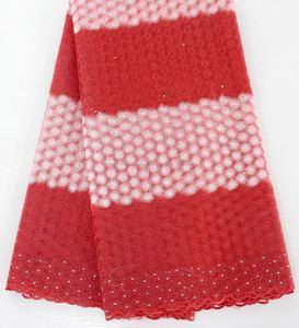 Pas cher corail lacet suisse de voile en suisse gros lourd coton tissu pour bébé costume